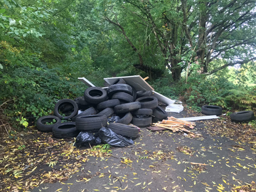 Fly-tipping on Myers Grove Road Stannington